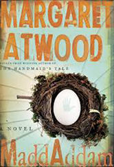 The cover of Atwood's MaddAddam