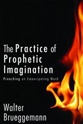 The cover of Brueggemann's Practice of Prophetic Imagination