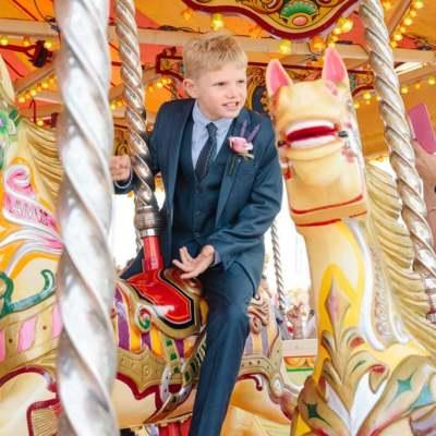 Norfolk wedding photographer – Brighton carousel