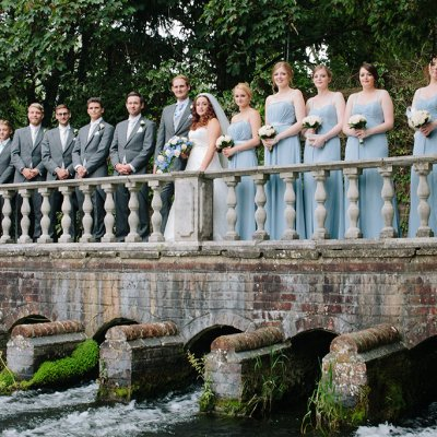 Norfolk wedding photographer – bridal party by river