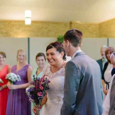 Norfolk wedding photographer – bride and groom see each other for the first time