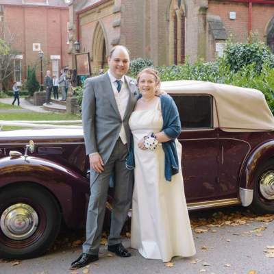 Norfolk wedding photographer – wedding car bride and groom