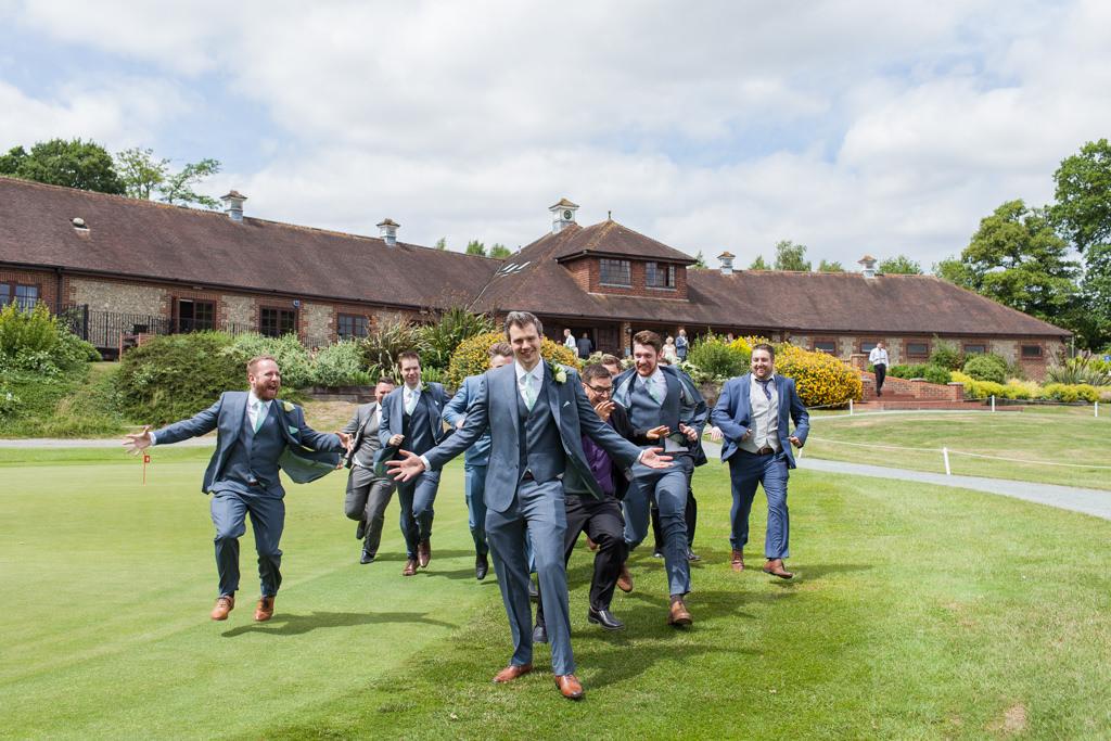 Norfolk wedding photographer slideshow groomsmen