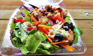 toss and roll grilled chicken salad
