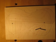 using pins and flipping the template to create the rib mold outline