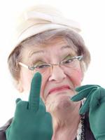 old lady swearing