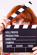 Gender in the film industry with clapperboard