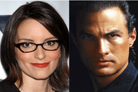 Tina Fey and Steven Seagal