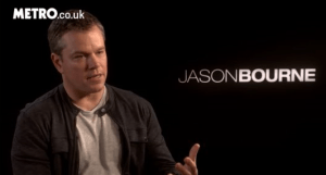 Matt Damon Metro interview