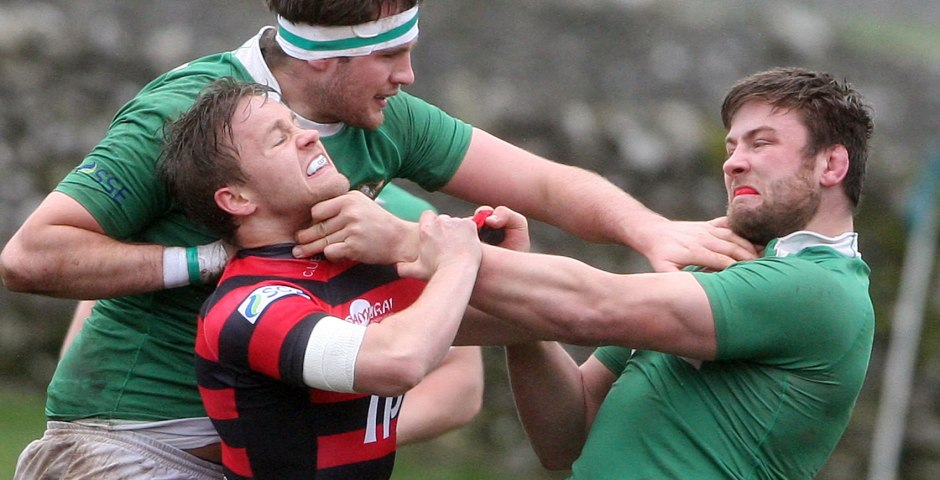 Fight on rugby pitch