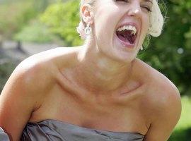 Ecstatic bridesmaid