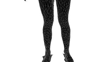 White Wireframe (Legs)