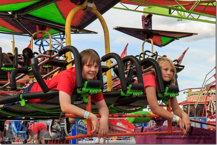 Kids on Stampede Ride