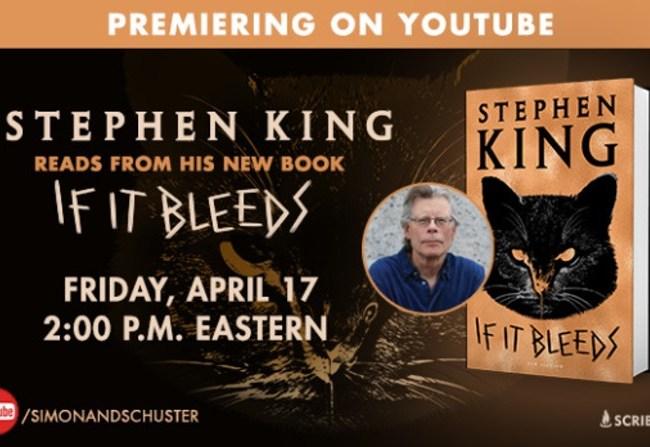 Stephen King lee un fragmento de If It Bleeds