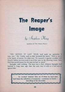 The Reaper's Image - First page