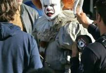 bill skarsgard ca it tournage grippe sou pennywise
