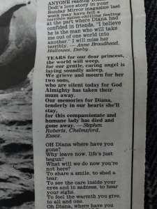 Sunday Mirror - 7th September 1997 - Stephen Robert Kuta - Diana, Princess of Wales