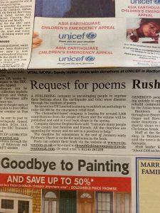 Billericay and Wickford Gazette - Wednesday 5th January 2005 - Stephen Robert Kuta - Paint the Sky with Stars