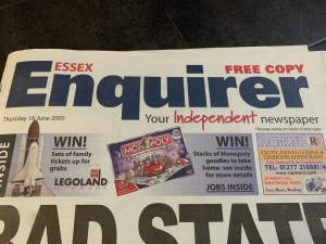 Essex Enquirer - Thursday 16th June 2005 - Tsunami Earthquake - Paint the Sky with Stars