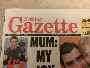 Evening Gazette - Friday 27th January 2006 - Gay Marriage / Civil Partnership