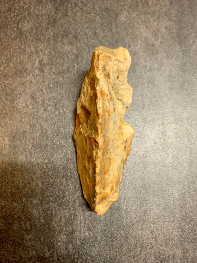 Palaeolithic pointed flint hand axe