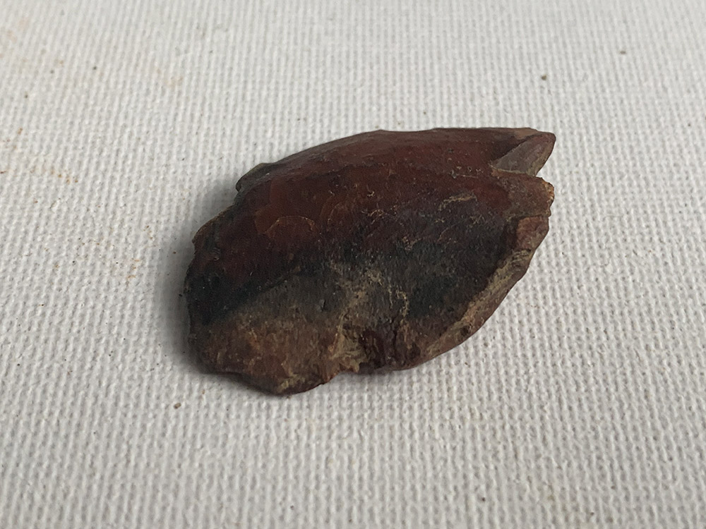 Neolithic Thumb Scraper, Made with Red Serpentine
