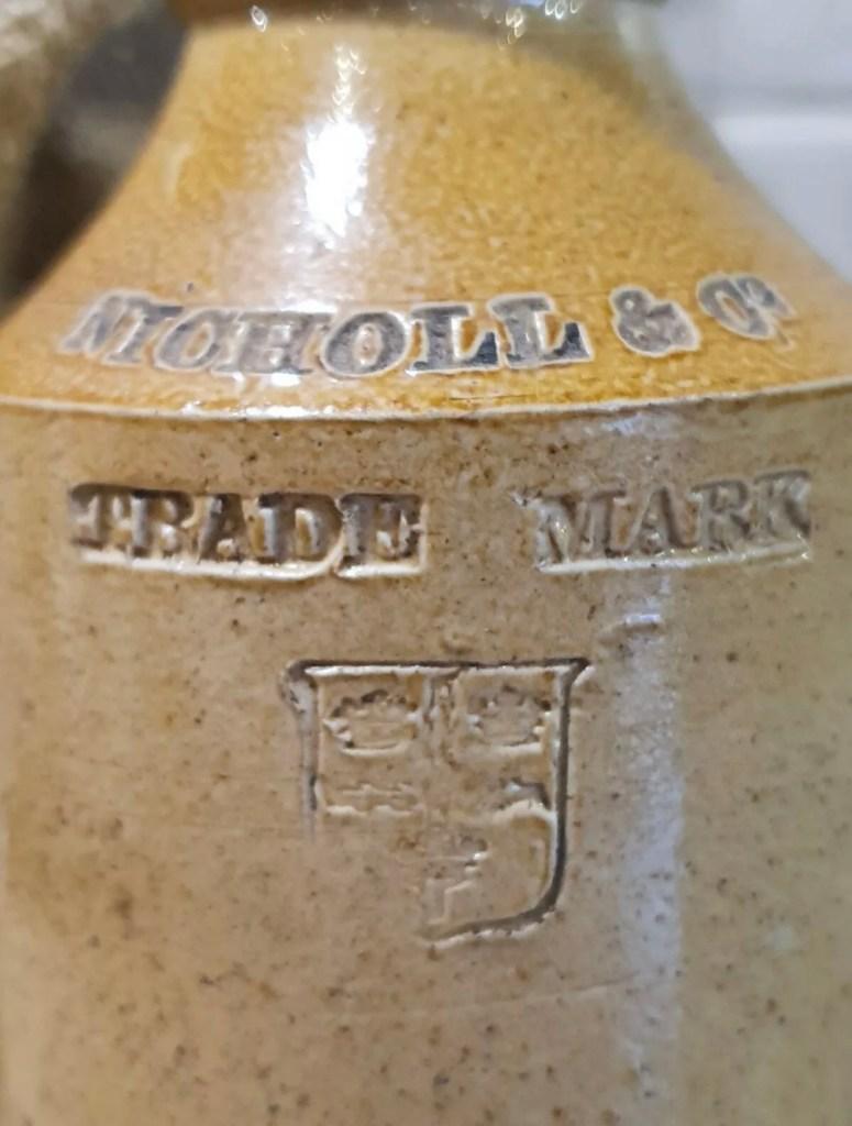 Victorian Stoneware Bottle / Colchester