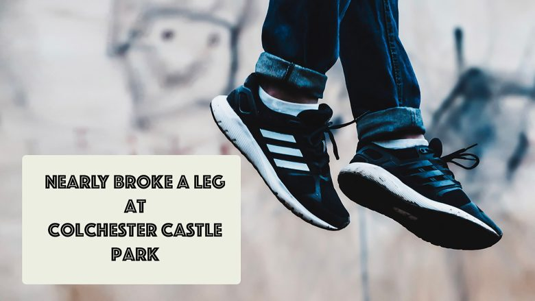 Nearly broke a leg at Colchester Castle Park   Funny Moment   Stephen and Yhana   Vlog 14