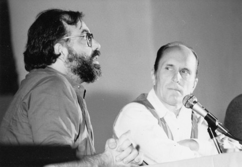 Francis Ford Coppola and Robert Duval on panel at 1983 Santa Fe Film Festival