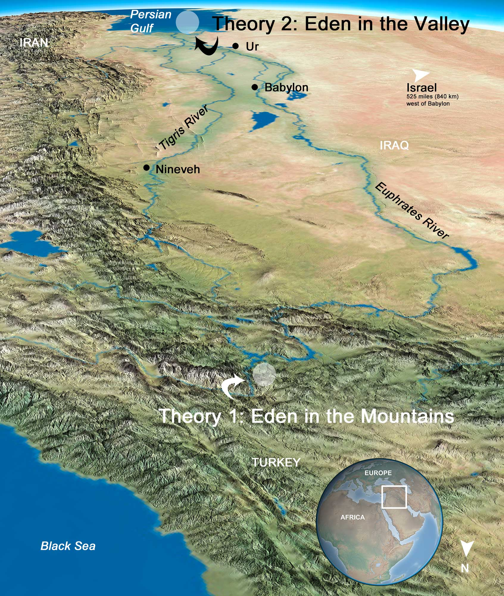 Rivers There And Tigris Are Near Beds Ancient Euphrates River