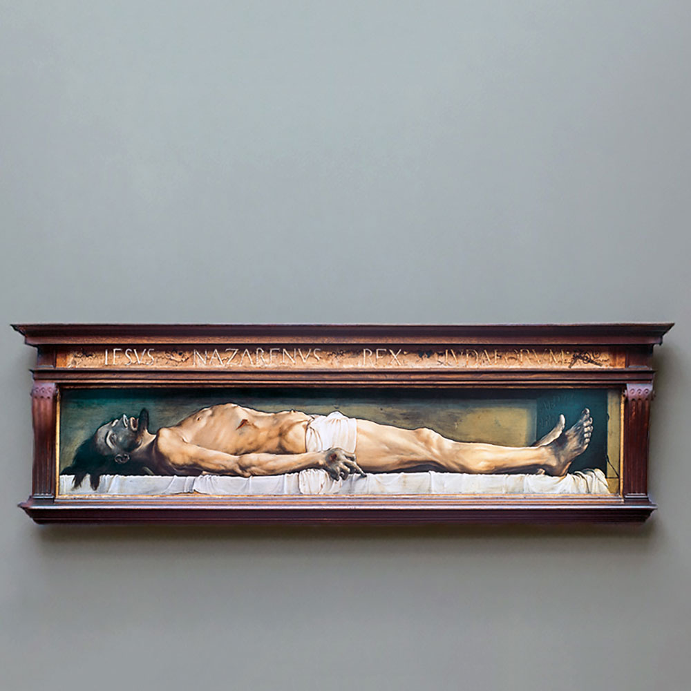 Painting of the body of Jesus Christ