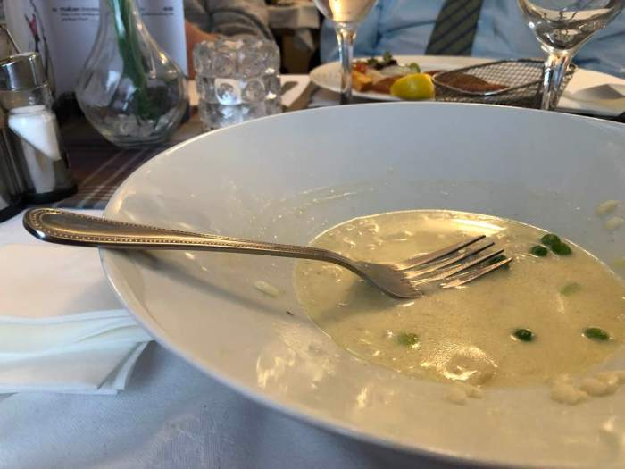 What's left of my smoked haddock risotto