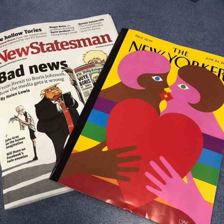 Two magazines- New Statesman and The New Yorker
