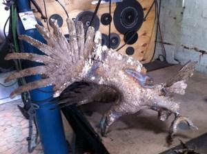bronze Eagle sculpture,Aquilla,fettling,
