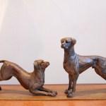 Rhodesian Ridgebacks,dogs,sculpture,bronze