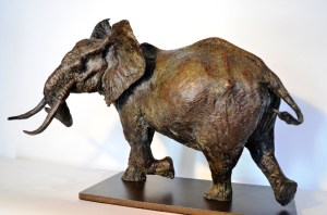 Elephant bull maquette