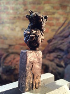 Japanese Netsuke,sculpture,miniature bronze,stephen rautenbach