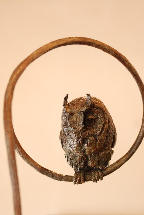 Scops Owl,bronze,statue