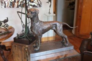 Ridgeback bronze, Ridgeback sculpture
