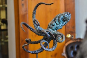 Green octopus,bronze
