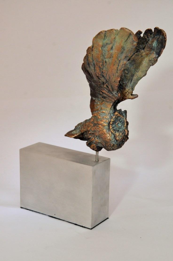 Owl,sculpture,bronze