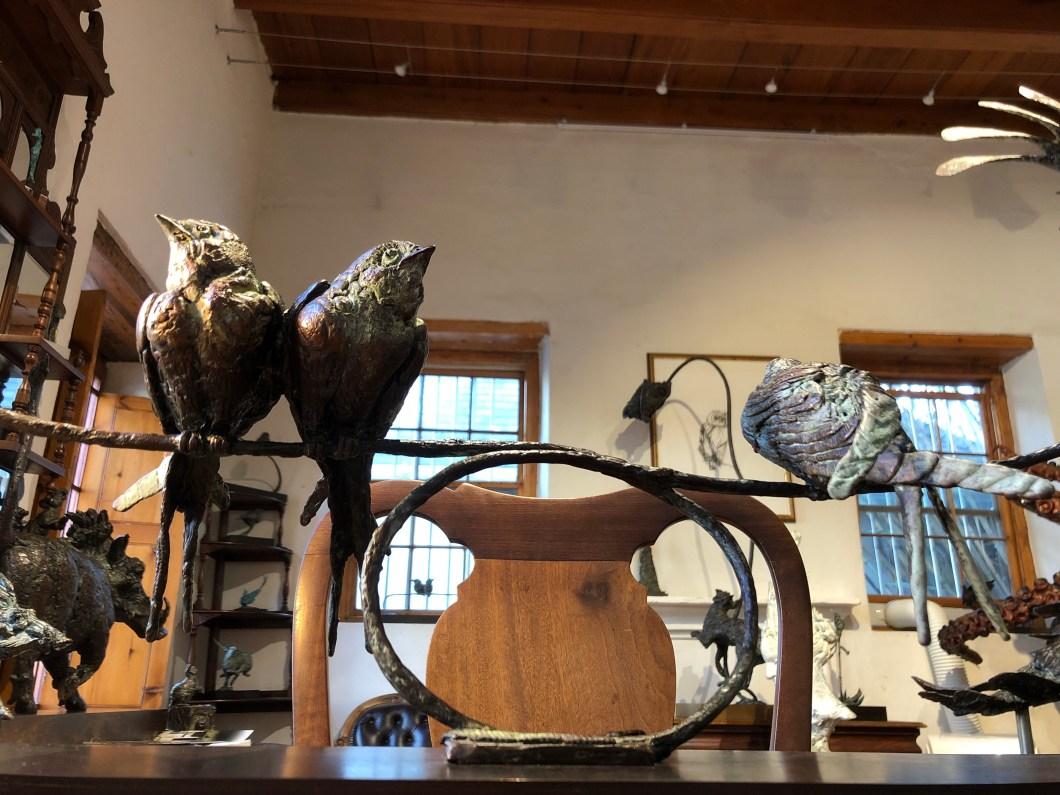 Swallows, bronze,sculpture,