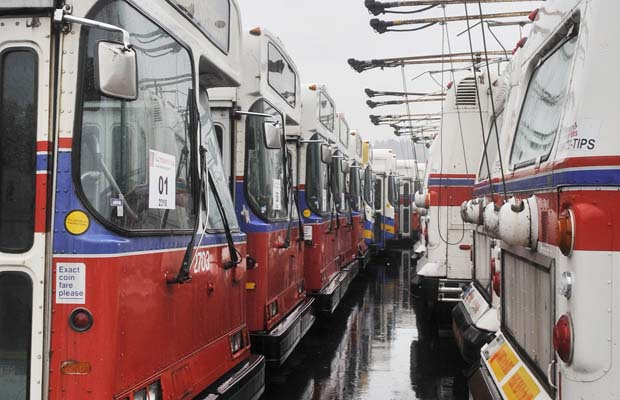ex Translink trolley buses