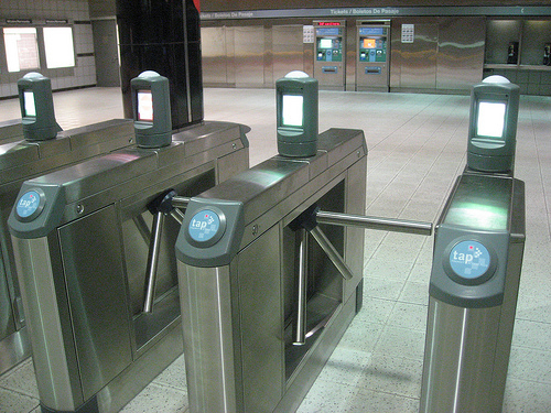 Fare Gate at Wilshire/Normandie
