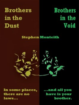 """Two brothers have become bounty hunters together and are searching for a pair of dangerous criminals. This short story is told twice in this collection, first as a Western called """"Brothers in the Dust"""" and then as sci-fi in """"Brothers in the Void""""."""