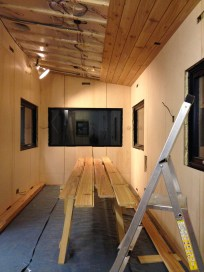 Six ceiling planks installed