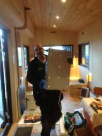 ….. installs the boiler