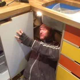 Stephen spent 3 hours fitting the door catch
