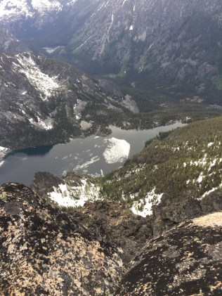 Colchuck Lake from above