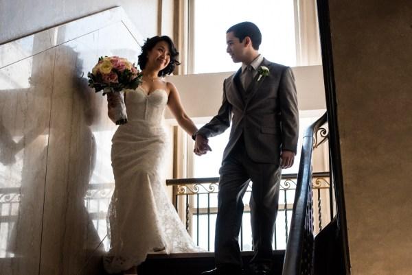 wedding portrait down town club philadelphia